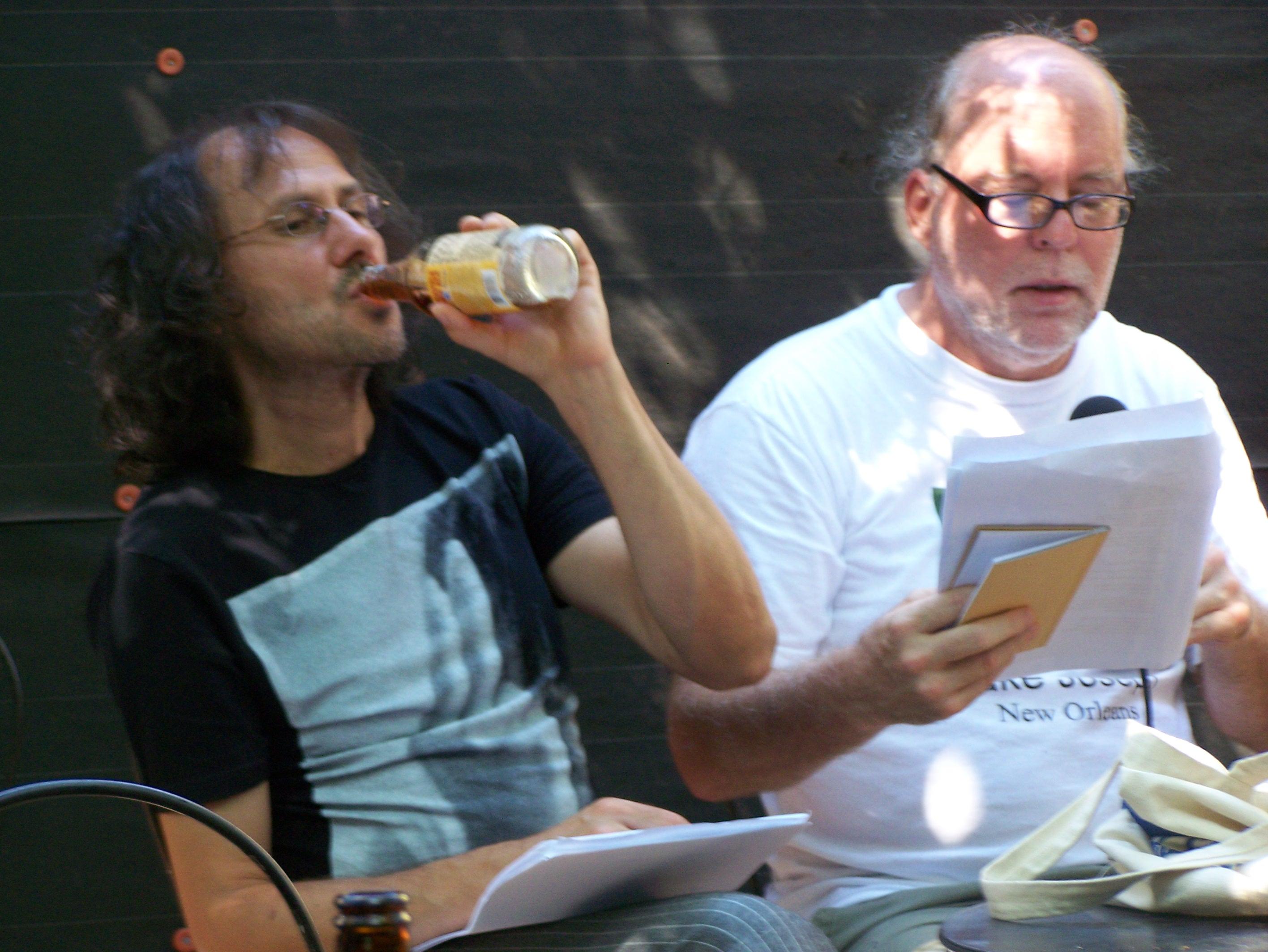 С проф. Ланю на четене в Maple Leaf Bar, Ню Орлиънс, САЩ